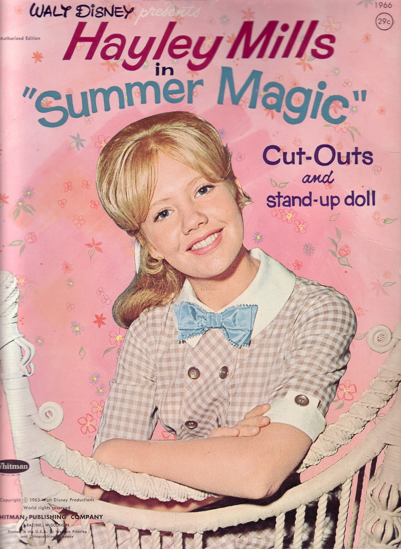 Hayley Mills - Summer Magic paper doll set (1963) 000