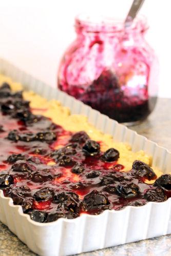 Hjónabandssæla - blueberry oat slice/cake 1917 R