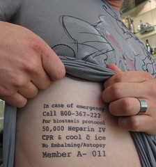 Todd's New Tattoo (jurvetson) Tags: tattoo puzzle instructions todd iv protocol alcor stasis cryonics heparin freezeyourhead biostasis