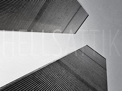The World Trade Center (Hell's Attik) Tags: nyc newyorkcity sunset architecture america skyscraper unitedstates worldtradecenter financialdistrict historical twintowers wtc gothamist curbed nuevayork southtower northtower brownstoner structuraldesign hellsattikcom