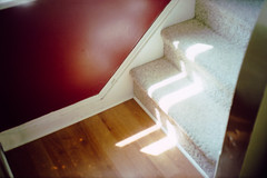 summer light, climbing light (scott w. h. young) Tags: wood red sun love home window stairs 35mm summerlight climbinglight
