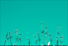 A world of Antennas (manlio_k) Tags: blue sky television tv space azure negativespace cielo antenna salerno manlio