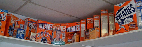 Some of Minutemans Extensive Collection of Wheaties Boxes