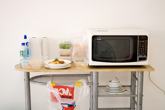 IMAGE:Our food prep station. This is where the styling and preparation takes place before the shoot.