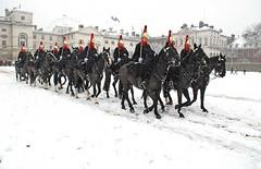 Back to barracks (brian.mickey) Tags: snow london winterinlondon snowylondon touristlondon