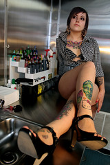 IMG_7124 (Venessa Nina) Tags: hello flowers woman hot cute sexy girl tattoo ink photography skull model industrial dress cupcake nina alison murphy inked tats heals kity venessa fivefootmohawk venessaninaphotography