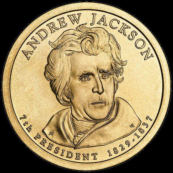 Andrew Jackson Presidential $1 Coin — Seventh President, 1829-1837