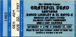 Grateful Dead ticket (GDTS) - 8/22/87 Calaveras County Fairground, Angels Camp, California [borrowed from www.psilo.com]