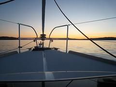 Sailboat (Kirsti I.) Tags: solnedgang fjorden seilbten