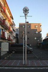 The site of Hodogaya Juku's Edo Mitsuke on the Old Tokaido  (only1tanuki) Tags: sign japan japanese parkinglot yokohama historicalmarker edo paved tokaido mitsuke kanagawaprefecture oldtokaido hodogayajuku needtotranslate