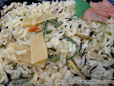 Rachels lunch - bamboo rice