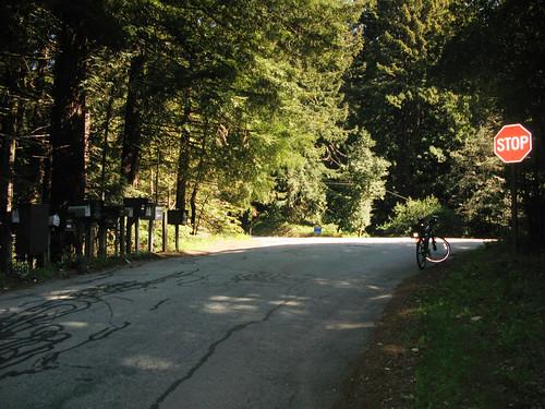 End of the Old La Honda Climb