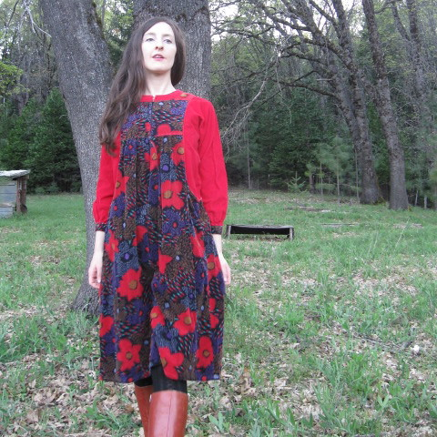 Garden Cottage Corduroy Dress