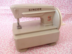 Paper Doll Cutting Child's Sewing Machine