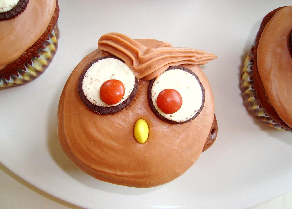 Owl Oreo Cupcake
