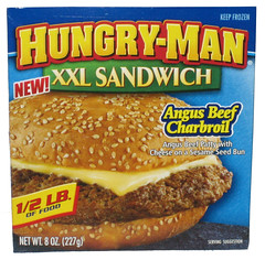Hungry-Man Angus Beef Charbroil XXL Sandwich