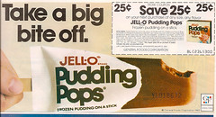 Old 1983 General Foods Jell-O Pudding Pops Magazine Ad / Coupon (gregg_koenig) Tags: old magazine foods general ad pudding 80s 1983 jello pops 1980s coupon