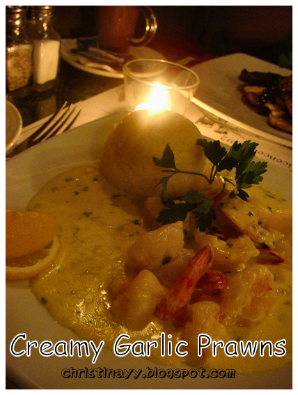 The Spotted Cow: Creamy Garlic Prawns