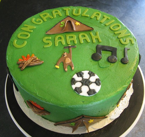 Soccer Girl's favorite things cake