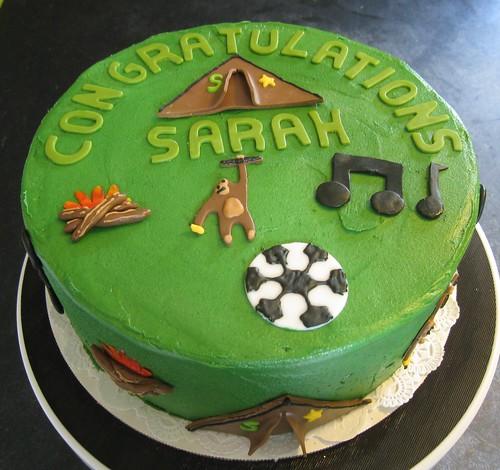 Soccer Girl's favorite things cake