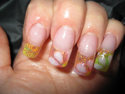 Colorful Ghetto Fabulous Nails design nail polishes