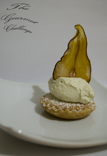 Almond frangipan tart with toffee pear 2
