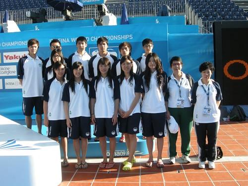725-游泳代表隊攝於羅馬世錦賽比賽池