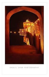 Hiran Minar with Lights