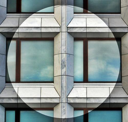 fönster, moln, dröm, surrealism