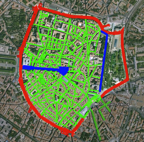 Old Urbanism to Fused Grid - Montpellier