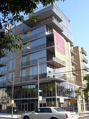 New Construction (Violette79) Tags: street new city house reflection building beautiful car mirror town construction bensonhurst