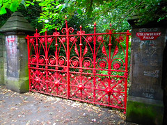Strawberry Fields forever.... (Chris H#) Tags: red liverpool paul george gate ringo thebeatles colourmyworld strawberryfieldsforever strawberryfield cmwdr cranfordstjohn nikonl100
