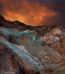 Death Valley - Artist's Palette (Steve Sieren Photography) Tags: california light sky death colorful artist dramatic valley artists guide palette photoworkshop scenicphotoworkshopscom stevesierencom