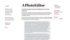 A Photo Editor - The Sad Strange Financial Predicament Of Annie Leibovitz_1250849559823