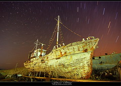 Ghost Ship (tolis*) Tags: black canon island star long exposure ship ghost tripod tokina greece polar shipyard startrails chios cablerelease 1224f4 eos50d mywinners tolis    flioukas   sheevers