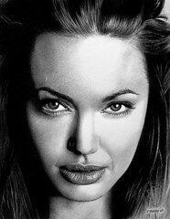 Angelina Jolie 04. (pbradyart) Tags: portrait bw art pencil star sketch artwork drawing angelinajolie otw flickrsbest angelinajoliedrawing angelinajolieportrait angelinajoliepencildrawing