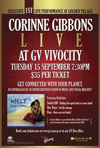 "Golden Village (Singapore) Presents Corinne Gibbons – ""Live ..."