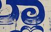 vividly blue long a (romana klee) Tags: blue white painterly wall writing intense peeling paint letters vivid line form script peel outline curve mysore brushstrokes alignment shading kannada vowel ā dirgha