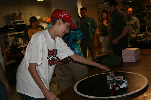 Sumo robot demonstration (photo by Sharon Mels)