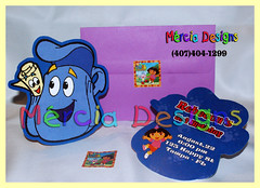 180 -Dora the Explorer Invitation (mercia designs) Tags: party aniversario decoration artesanal diego dora invitation convite festa cumpleanos regalos decoracao lembrancinha