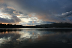dawn 2 (axiepics) Tags: morning sky lake canada mountains reflection nature water clouds forest sunrise reflections landscape dawn scenery bc britishcolumbia hills vancouverisland northamerica ripples daybreak sproatlake ©copyrightalexskellyallrightsreserved