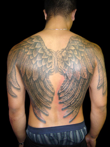 Angel Wings by Vintage Karma Tattoo Studio From Vintage Karma.