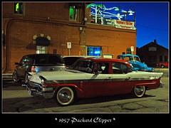 1957 Packard Clipper (sjb4photos) Tags: car night automobile packard autoglamma 1957packard depottown09