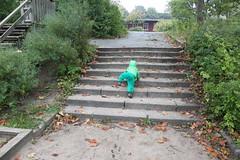 Nya hobbyn är att klättra i trappor - snabbt!