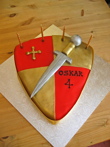 Shield And Sword Beautiful Birthday Cakes