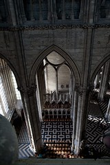 Amiens Cathedral - Triforium View - South Transept Arch (Stan Parry) Tags: architecture religious europe cathedral religion gothic medieval unesco amiens middleages worldheritage gotik