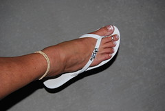 Right Foot (cjacobs53) Tags: sexy feet girl foot shoe friend girlfriend long toe nail tan polish flip sherry jacobs milf toering flop sandal anklet jacobsusa