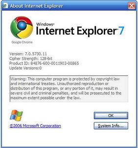 谷歌的Internet Explorer解决方案:让它成为chrome