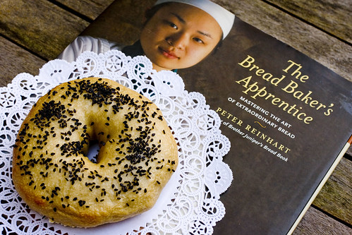 black sesame bagel with The Bread Baker's Apprentice 3