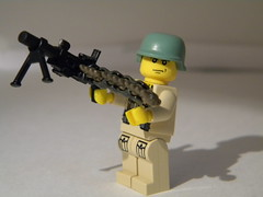 Browning M1919 (Sniper_Season) Tags: cool mod lego wwii ww2 custom browning brickarms m1919